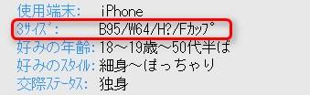 ハッピーメール3サイズ